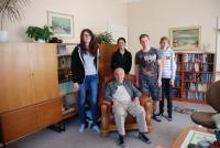 S žáky během nahrávání v rámci projektu Příběhy našich sousedů