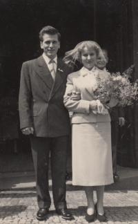 Hana Krušinová svatba 1956