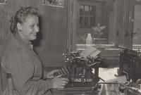 Hana Krušinová v práci