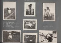 stránka z fotoalba - Hana těsně po narození v roce 1934