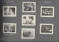 Stránka z foto alba - Hana se sestrou v létě 1938