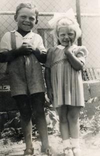 Jiří Beránek with his sister Ivanka