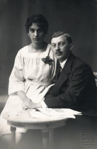 fotografie rodičů Hahnových