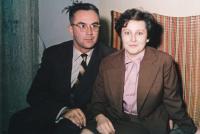 Zdeněk Hříbal s manželkou Annou (1963)