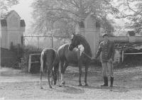 Jan Urban - toho času ošetřovatel koní v Kratochvíli, rok 1978