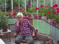 Ludvík Vaculík na zahradě v Dobřichovicích (2015)