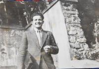 Jiří Fišer v mládí. Asi rok 1957