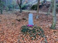 A war grave at Hraničky, where Otto Krejci and Frantisek Svec were shot on 7 May 1945