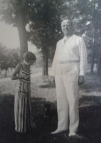 Zorica Dubovská s tatínkem