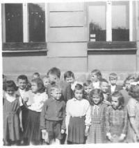 První učitelské místo, 3.třída v Chebu, 1954