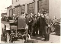 Firma Svoboda v Kosmonosech, již bez protiprávně vyhnaného Václava Svobody za Národní správy, kolem roku 1946
