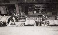 Osvobození, Prešovská ulice, Plzeň, 1945
