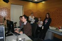 Pupils from the Elementary School Lupáčova taking a part in a workshop in the Czech Radio