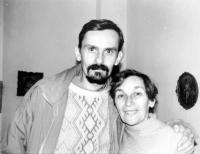 Doina Cornea împreună cu fiul său, Leontin Iuhas
