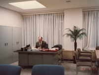 Ludvík Armbruster as the director of the university library, Sophia University, Tokyo, 1984
