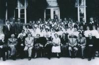 1951, Maturita, Bibiana 2nd line from the bottom, 5th from the left - above the professor