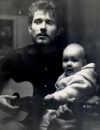 Oldřich Hamera with his son Norbert, 1967