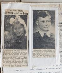 Články v novinách o dětech z Údolí smrti u Dukelského průsmyku, které díky Květoslavě Bartoňové v roce 1946 přijeli do Olomouce