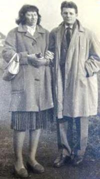 Eva with Rolf in Prague