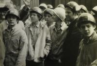 mladí horníci Dolu Dukla / 50. léta