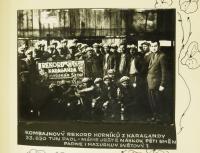 slavnostní fotografie rekordu v těžbě v Dole Dukla / 5. května 1960