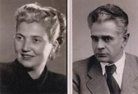 Uncle Barna, father´s brother, with his German wife Micka, who saved him