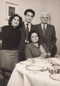 With parents and brother Bedřich, Nové Zámky 1957