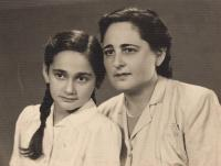With mum, Hlohovec 1947-48