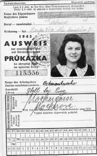 Dagmar Procházková, roz. Weitzenbauerová v době totálního nasazení