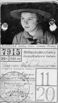 Dagmar Procházková, roz. Weitzenbauerová ve skautském