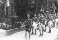 Pohřeb A.B. Svojsíka 1938, Václav Weitzenbauer vpředu
