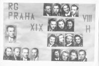 Tablo maturantů reálného gymnázia 1945, D. Weitzenbauerová 2. řada odspodu vlevo
