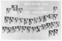 Tablo Sokol_vpravo nahoře Václav Weizenbauer_a dalších 11 mužů odsouzených v roce 1958