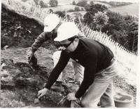 Luděk Svoboda archeologické vykopávky Anglie léto 1968