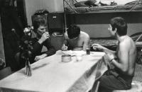Soldiers in their barracks, 1980