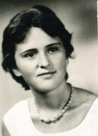 Helena Medková jako studentka AMU