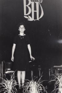 Helena Medková na hudebním festivalu Beethovenův Hradec (1965)