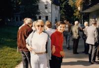 Helena Medková a Ivana Tigridová na setkání Opus Bonum (Franken, 80. léta)