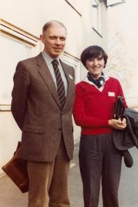 Ivan Medek a Helena Medková na setkání Opus Bonum (Franken, 1982)
