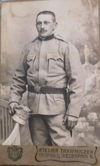 Grandpa Rudolf Schroth as a soldier in the Austro-Hungarian army in the first world war