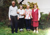 Sourozenci Fischerovi. Zleva Richard, Hildegarda, Hedvika a Alžběta