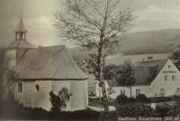 Osada Růženec (Rosenkranz). Kaple sv. Antonína Paduánského a hostinec Täuber