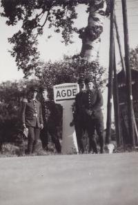 Pan Pekárek ve francouzském Agde, 1939