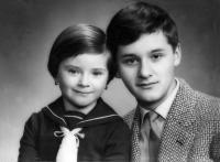 Se sestrou Erikou, Nové Zámky 1960