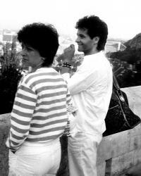Budapešť Robert se sestrou Erikou 1985