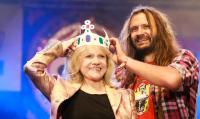 korunovace,  Martin Věchet zakladatel festivalu spolu s prezidentem Havlem
