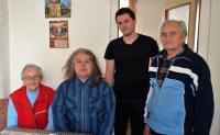 Zleva: Olga Mauleová, Stanislav Pítr, Luděk Jirka, manžel Olgy Mauleové