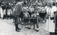 Na sokolské slavnosti, Kolín, 1934