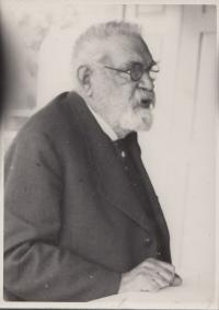 pradědeček František Křižík ve věku cca 90 let