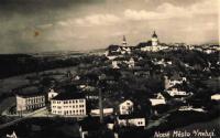 Nové Město nad Metují v roce 1946, křížek označuje bývalou koželužnu